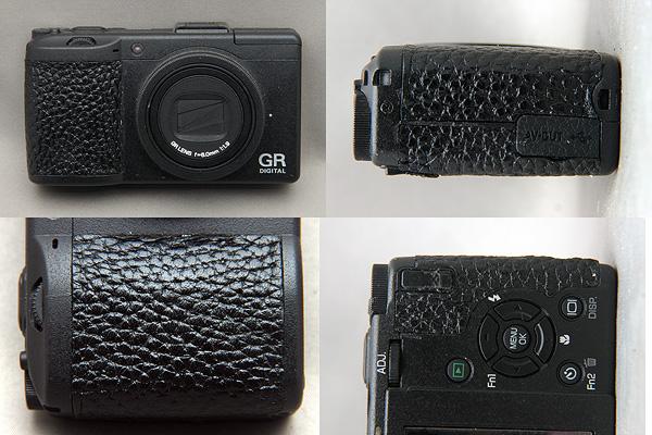 Ricoh GR Digital III Custom Grip Leather on